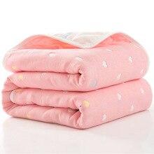 Детское одеяло, одеяло для новорожденных, детское 6-слойное Марлевое банное полотенце для детей, детские одеяла(размер 80*80