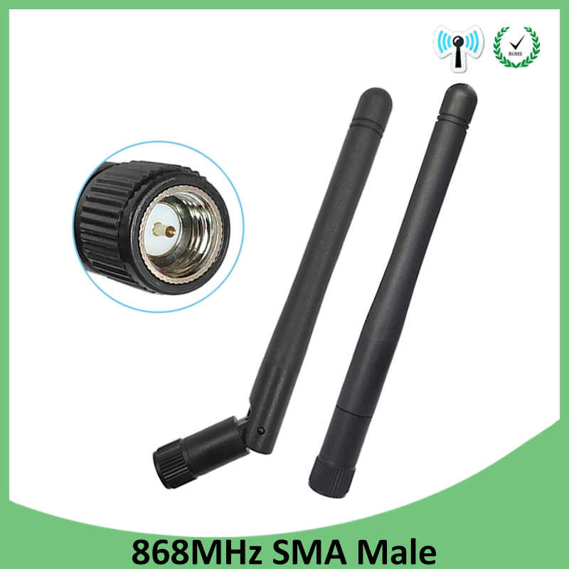 20pcs <font><b>868MHz</b></font> <font><b>915MHz</b></font> <font><b>Antenna</b></font> 3dbi SMA Male Connector GSM 915 MHz 868 MHz antena outdoor signal repeater antenne Lorawan image