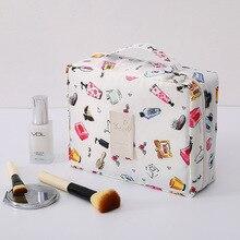 Mujer bolsas de maquillaje, señoras Multifunción viaje, mujeres maquillaje organizador bolso cosmético neceser portátil al aire