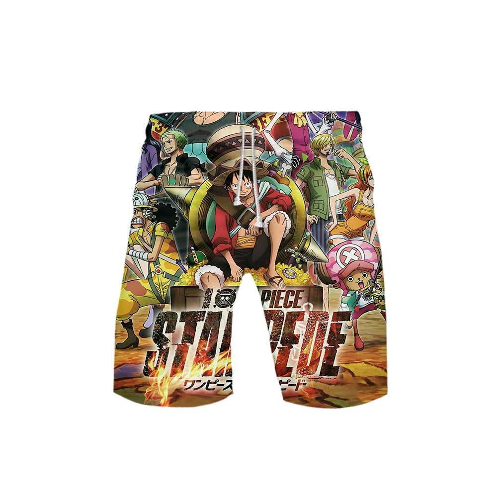 One Piece-stampede Board Shorts Beach Summer Men 3d Anime Sport Surfing Movie & Tv Costumes Trunks Swimwear Cartoon Short Pants image