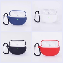 For oppo enco x Case Simple Solid color with hook Anti fall Silicone Wireless Bluetooth Earphone Protection Case Cover