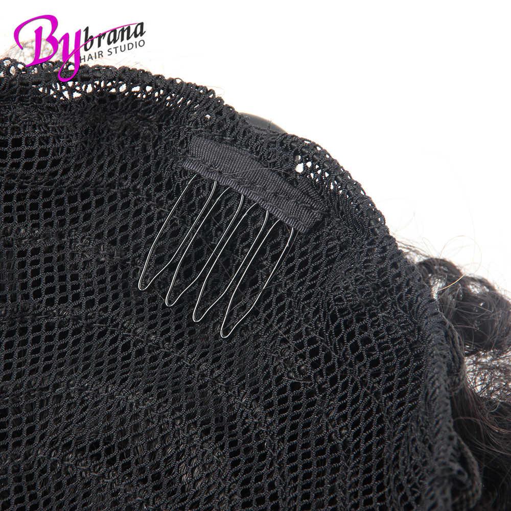 Pinza de pelo de cola de caballo rizada Afro para mujeres Natural negro Remy en colas de caballo cordón 100% extensión de cabello humano 1 Uds.