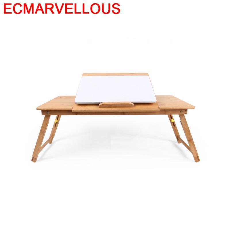 Portable Escrivaninha Stand Lap Office Bed Tray Escritorio Pliante Standing Adjustable Mesa Bedside Desk Study Computer Table