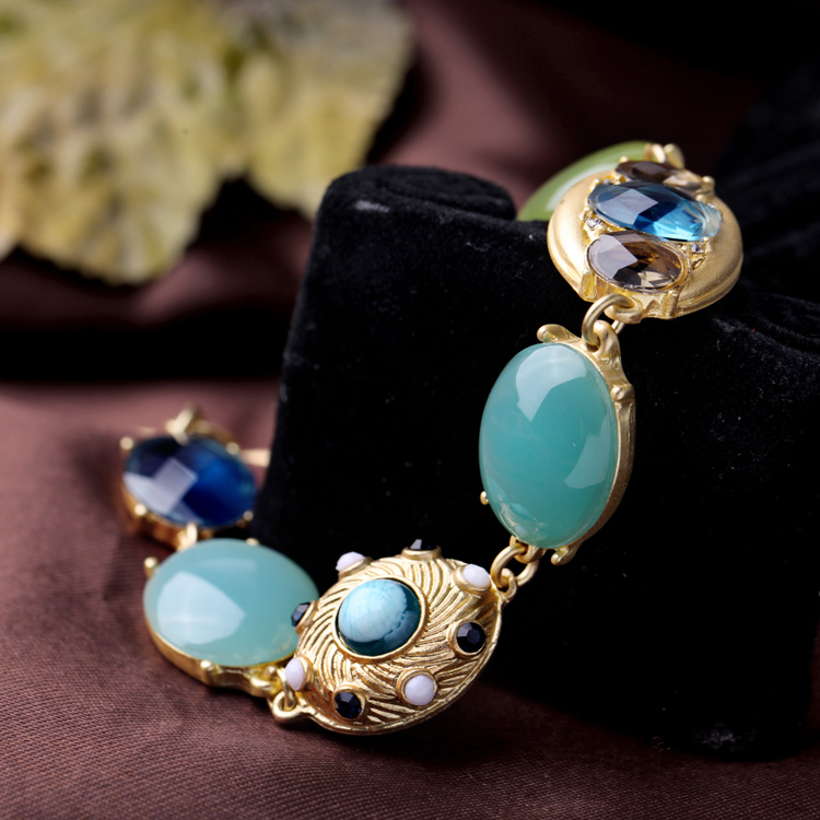 kissme Fresh Summer Ocean Beach Resin Gem Charm Bracelets For Women Gold Color Alloy 2020 New Style Fashion Jewelry Accessories
