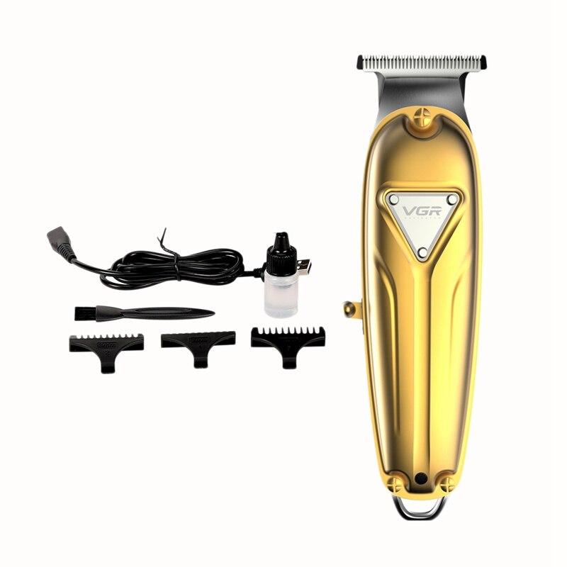 VGR V-056 Professional Hair Trimmer Electric Hair Cutting Machine USB Charging Beard Trimmer Men Haircut
