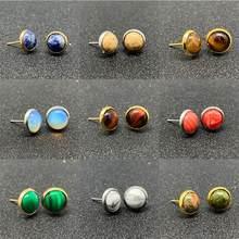 Momiji pedra natural brincos para mulheres artesanal boêmio brincos de aço inoxidável jóias presente cristal moonstone tigereye