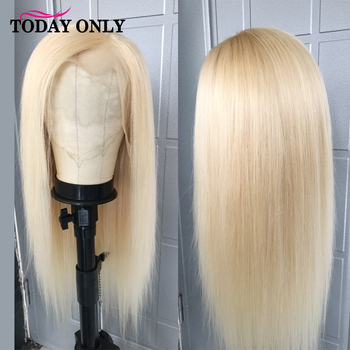 TODAY ONLY 13x4 613 Blonde Lace Front Human Hair Wigs Peruvian Straight Wig Remy 613 Lace Wigs Pre Plucked Hairline 150% Density
