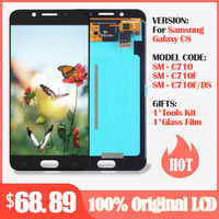 Original Amoled lcd For Samsung Galaxy C7 2017 C8 C7100 LCD Display Touch Screen Digitizer Assembly C710F/DS J7+ J7 plus Screen