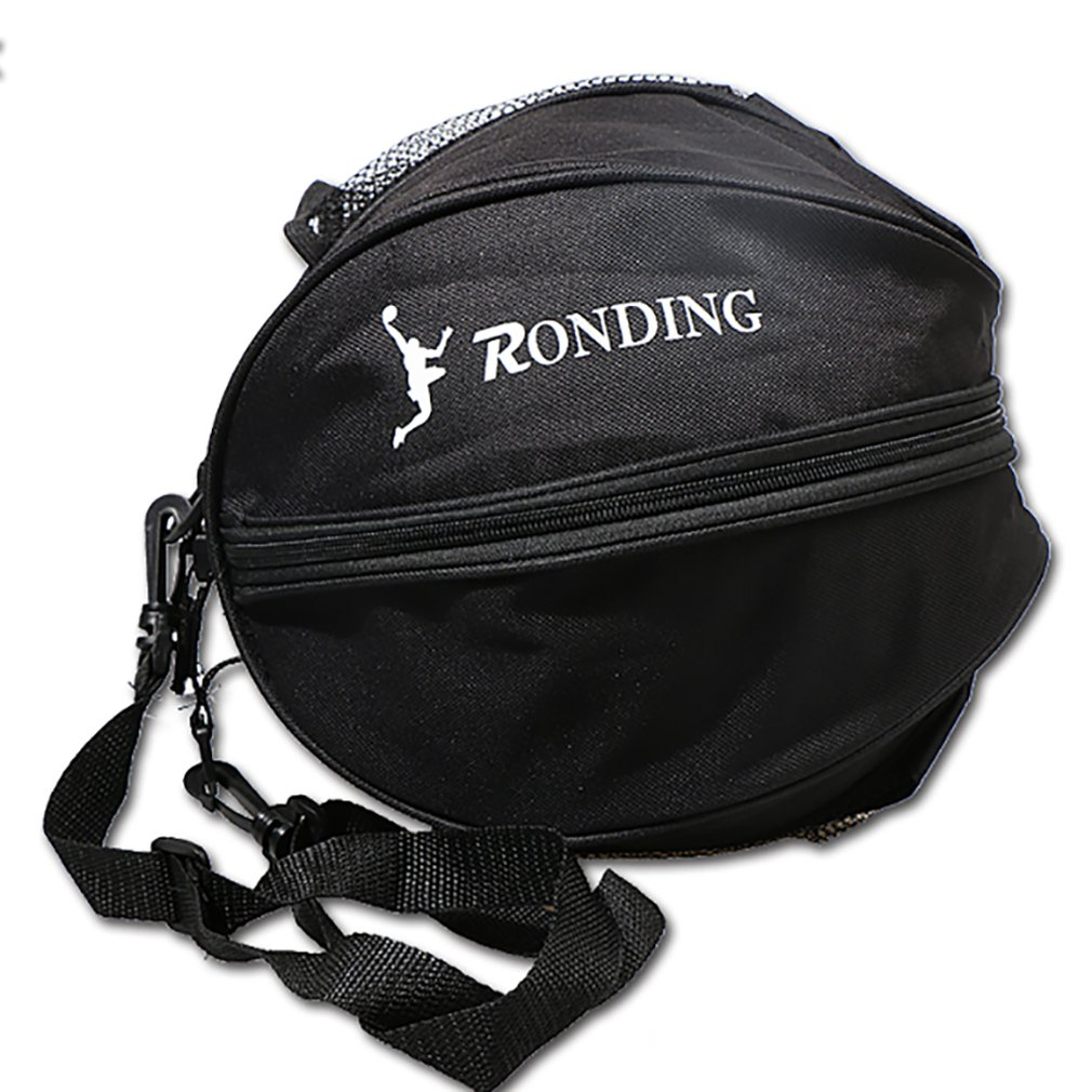 Portable Backpack Football Basketball Volleyball Storage Mesh Side One Shoulder Two-way Open Ball Bag