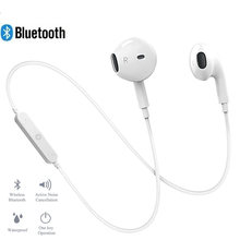 S6 Wireless Bluetooth Earphones Bass Loudly Headset Neckband life Sport stereo In-Ear With Microphone for iPhone 11 Samsung s9(China)