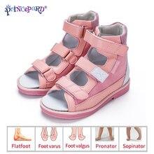Princepard детские сандалии для девочек принцесса кожа ортопедическая