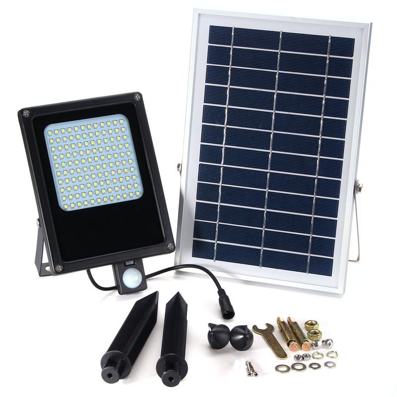 15W LED Floodlight with Solar Powered Panel Motion Sensor Flood Lights Waterproof IP65 150 LED 3528 SMD Security Emergency