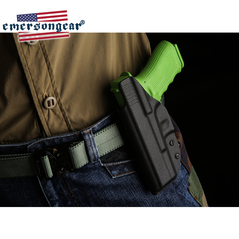 Image 5 - emersongear Emerson Tactical Glock Holster Inside Concealed Carry Waistband Pistola Belt Clip Accessories Right Hand-in Holsters from Sports & Entertainment