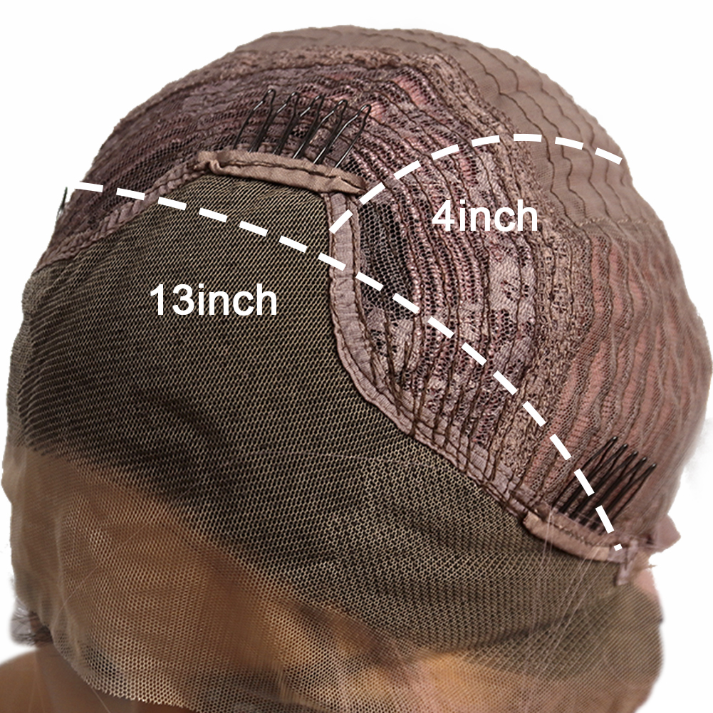 13x4 perucas longas ombre preto rosa sintético