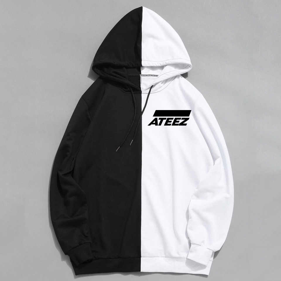 Newest Kpop ATEEZ Design Men Women Hoodies Hoody Sweatshirt Brand Spring Autumn Streetwear Patchwork Sudaderas Unisex Clothing