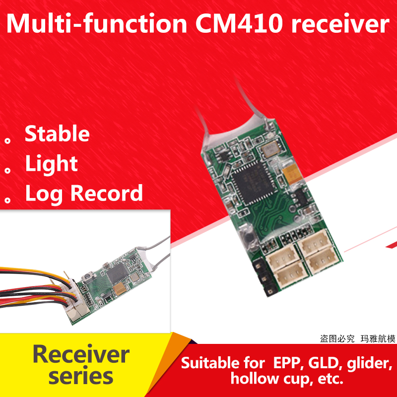 Receptor Remoto Para Spektrum Dsmx DSM2 DX6I DX18 DX8 DX9 DEVO10 Transmissor, REDCON receptor PPM CM410X-4Ch JST 2.4G