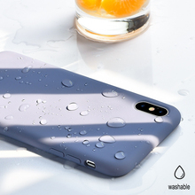 Liquid Silicone Phone Case For iPhone 11 xsmax xr xs x promax Lined Cotton 360 Degree Protective Solid Color Ultra-Thin Bareness