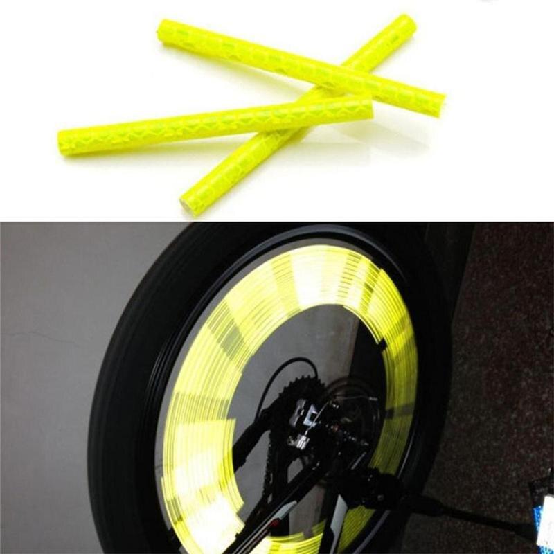 12 шт. Велосипедное колесо спиц отражатель светоотражающее крепление Предупреждение ющий зажим полосы R8M5