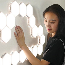 Quantum Lamp Modular Touch Lights Sensitive Lighting Led Hexagonal Lamps Magnetic DIY Creative Decoration Wall Lamp Ночной свет