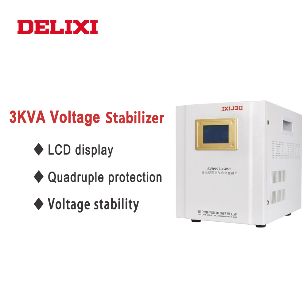 DELIXI Household Voltage Stabilizer 3000W Input Voltage 150V-250V high accuracy Automatic AC voltage regulator