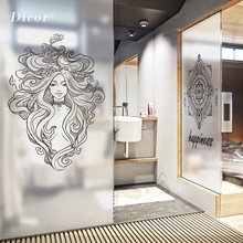 Customized Stained Static Cling Window Film Frosted Privacy Home Decor Glass Sticker Digital print BLT1221 Elunes Prayer