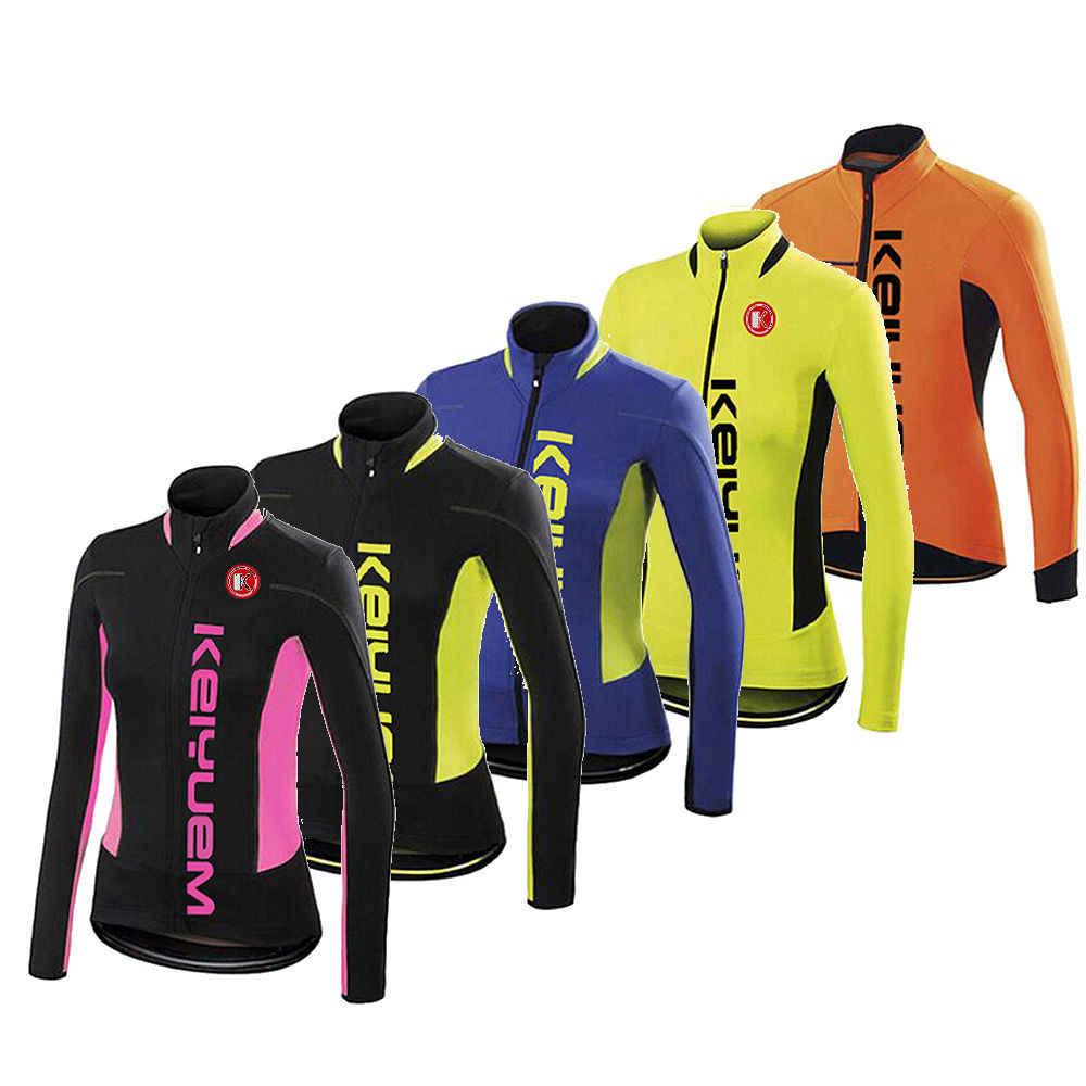 Chaqueta de ciclismo Ropa de invierno de lana para bicicletas Ropa viento