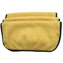 360 г/см плюшевое полотенце из микрофибры для ухода за автомобилем, две разные стороны, автоочистка, Детализация, воск, полировальные салфетки 40 см x 40 см, 3 шт