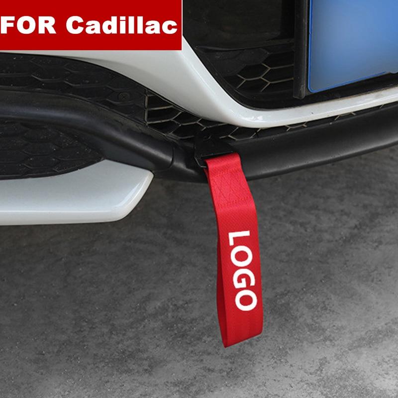 Модный новый автомобиль-Стайлинг тяжелый буксировочный трос автомобильный буксировочный ремень бампер прицеп веревка для Cadillac Логотип XT4