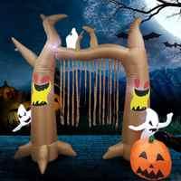 をハロウィンゴースト人形ドア装飾の小道具祭パーティー会場 2.4 メートル怖いハロウィンインフレータブル人