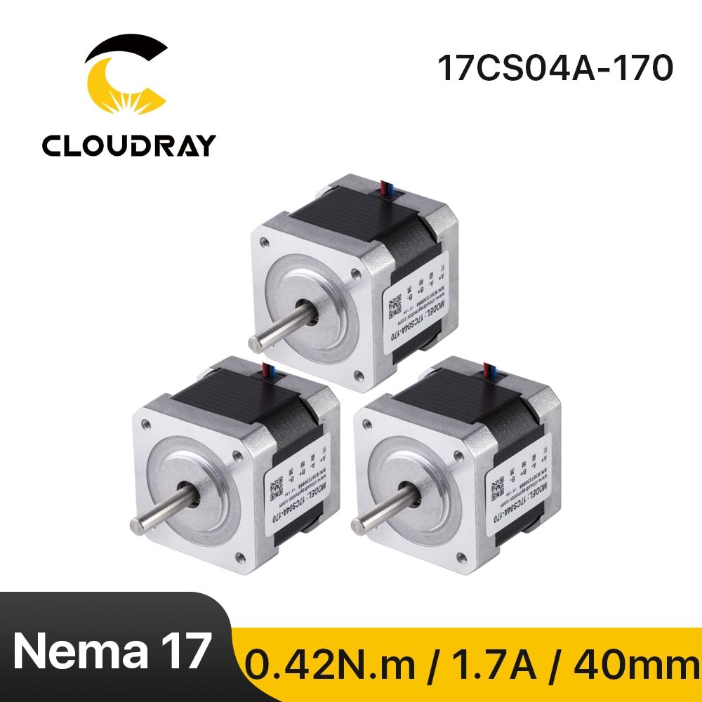 Cloudray Nema 17 (Национальная ассоциация владельцев электротехнических предприятий) шаговый двигатель 40 мм 42Ncm 1.7A 2-фазный шаговый двигатель для Ч...