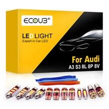 Светодиодный интерьерные лампочки комплект для Audi A3 S3 8L 8P 8V Купол Карта багажник надземная дверь белый Canbus Error Free интерьер светильник Замена