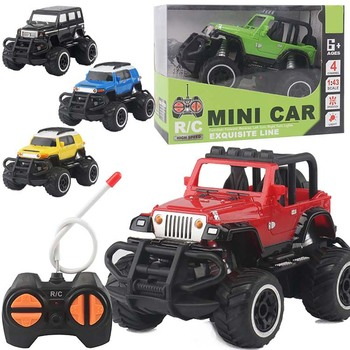 цена на HISTOYE 1:43 Mini Four-way remote control car off-road rc car Crawler Climbing vehicle with Light Buggy Toy Gifts for kids boy