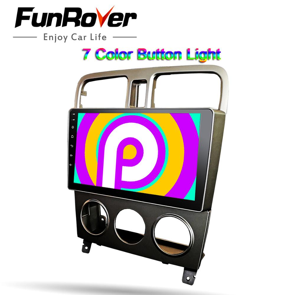Funrover 2.5D + IPS dla Subaru Forester 2004-2007 2 din android 9.0 samochodów Radio odtwarzacz multimedialny Radio samochodowe nawigacja GPS 9