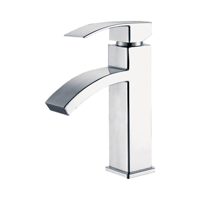 Square Single Cold Faucet Basin Wash Basin Bathroom Face Wash Faucet Hot And Cold Faucet Wholesale