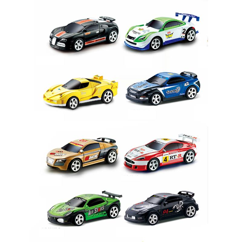 Mini RC Racer Cola Can Car Indoor Radio Remote Control Vehicle 27/40Mhz Micro Class Play Game Toy Small Porket Gift To Young Boy