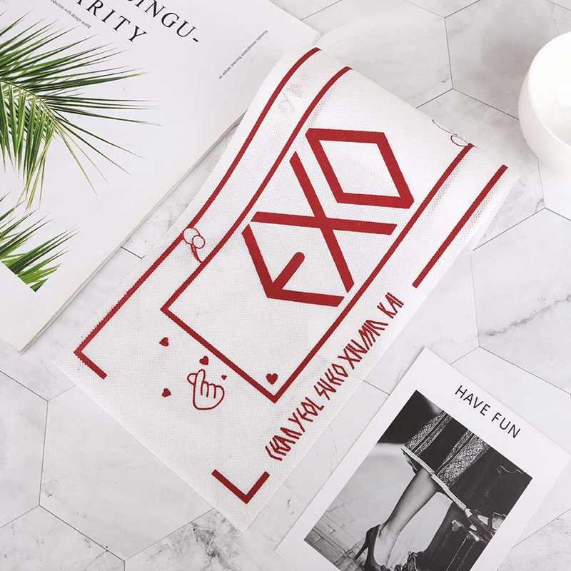 1 pezzo K-pop EXO Concerto di Supporto A Mano Banner 5th Album di NON ROVINARE IL MIO TEMPO Tessuto Hang Up poster