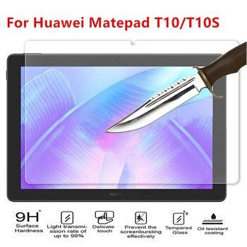 Protetor de tela vidro temperado para huawei matepad t10 t10s 10.1 ''2020 AGS3-L09/w03 AGR-L09/w03 tablet proteção filme de vidro