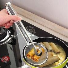 Kichen гаджет 1 шт нержавеющая сталь жареная еда дуршлаг сливной