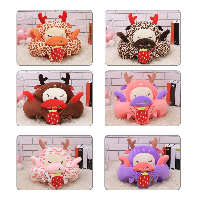 Toddler Design Cushion Cover Floor Seat Sofa Without Filling Cotton Washable Slipcover Detachable Cover Home Textile Decoration