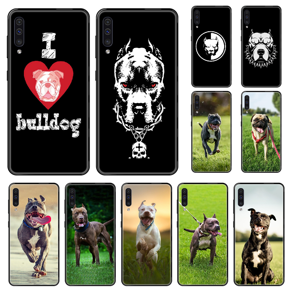 Cute Pug Bulldog Cool Phone case For <font><b>Samsung</b></font> Galaxy <font><b>A</b></font> 3 5 6 7 8 20 <font><b>40</b></font> 50 70 71 E S Plus 2016 2017 2018 black silicone <font><b>hoesjes</b></font> image