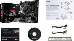 Image 4 - MSI A320M PRO M2 V2 האם amd שקע am4 ddr4 זיכרון אילים M.2 SATAIII ssd HDMI + VGA + DVI PCI E 3.0X16 mainboard לשולחן עבודה