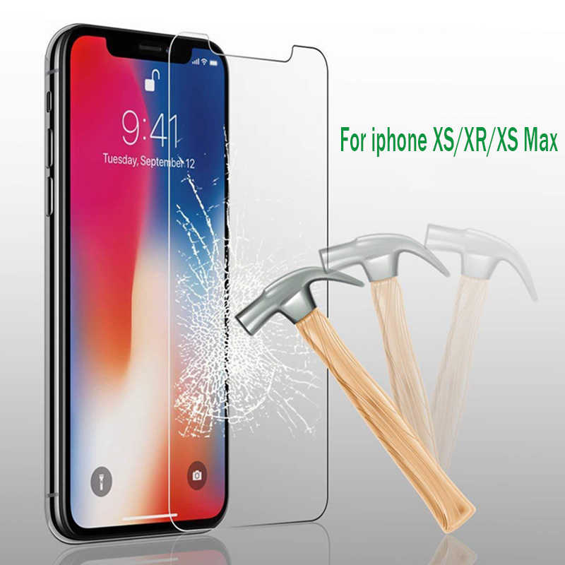 Tempered Glass For iPhone XS XR XS MAX 7 8 Plus Front Screen Protector Film For iPhone 8 X 7 6 6S Plus 5 5S SE XS Glass