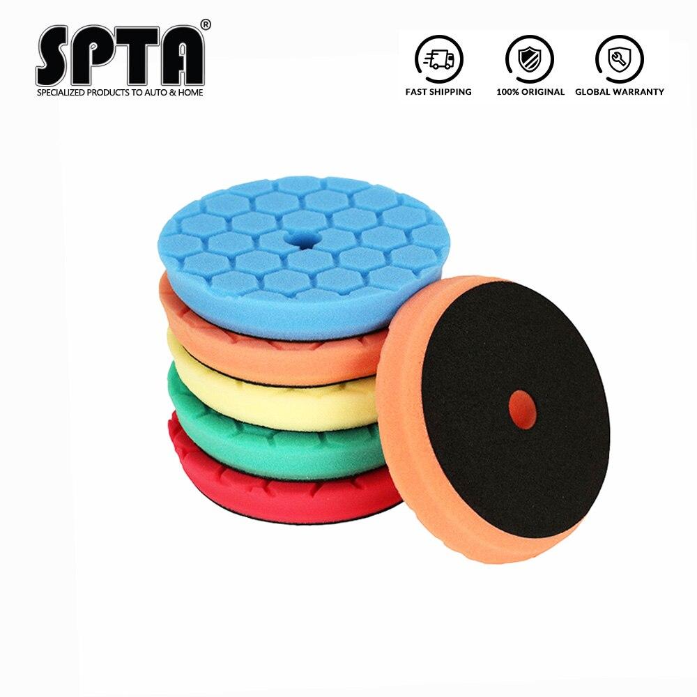 "Spta 3.5 ""(90mm)/6""(150mm) almofadas de polimento do spong do carro/para da/ro/ga 3 ""(80mm) polidor de carro de 5""(125mm)"