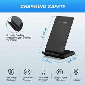 Image 5 - DCAE 15W Type C Qi Wireless Charger For Samsung Galaxy S20 S10 S9 Note 10 9 iPhone 11 Pro XS Max X 8 XR USB Fast Charging Stand