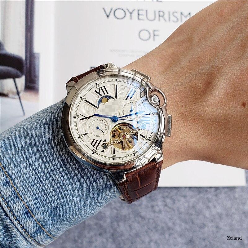 Luxury Automatic Watches 2020 Top Brand Same Paragraph Watch Men's Tourbillon Designer Mechanical Wristwacth Business Leisure