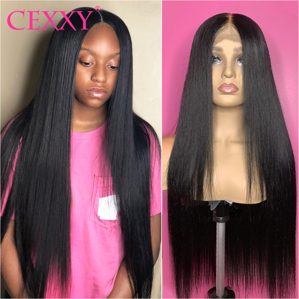 Cexxy Brazilian Lace Front Human Hair Wigs 13x6  Human Hair Wigs Straight Pre-Plucked With Baby Hair Long Hair Wig 30Inch