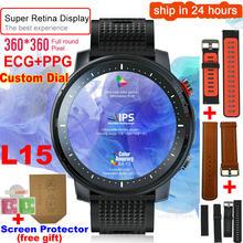 L15 ip68 à prova dip68 água relógio inteligente masculino 1.3 Polegada completo-ajuste redondo retina display música câmera de controle lanterna pk l5 l9 smartwatch