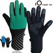 Winter Gloves Snowboard Cycling Warm Waterproof Women Touch-Screen Anti-Slip 1pair Full-Finger