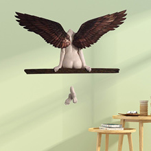 Wall-Decoration for Living-Room Bedroom Home-Decor Garden Statue Artwork Angel-Wings