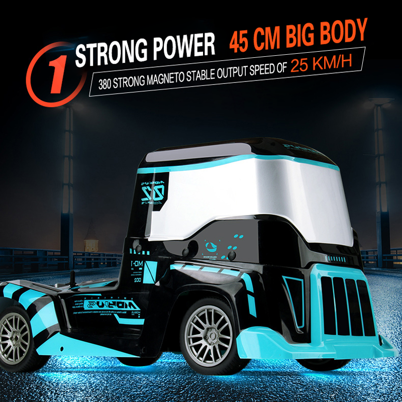 Rc Truck 1:10 4wd High Speed 25 Km/H 2.4G Light Big Body Remote Control Truck <font><b>Car</b></font> Control Distance <font><b>Electronic</b></font> Hobby <font><b>Toys</b></font> image